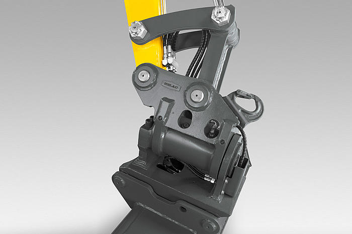 Wacker Neuson easy lock quick coupler on excavatordetail