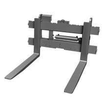 Attachment tools for Telehandlers - Pallet fork - with hydraulic side shift