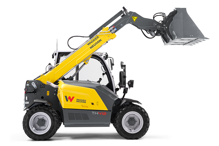 Wacker Neuson telehandler TH412 studio view 2