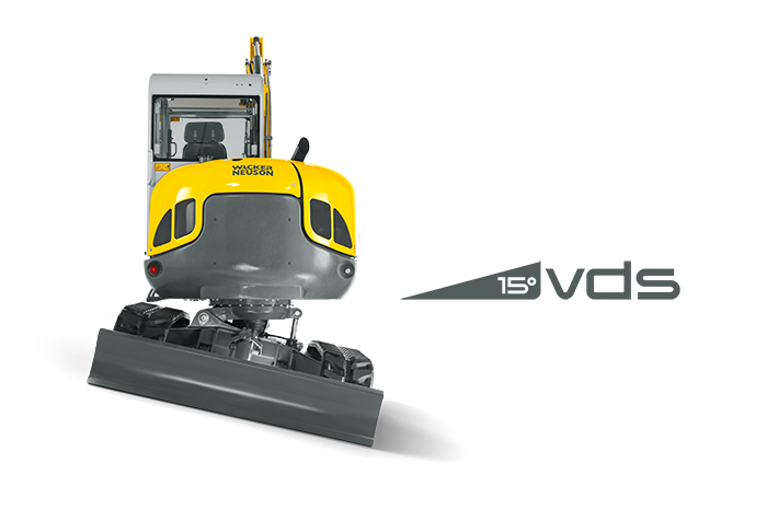 EZ53 with VDS (vertical digging system) for an optimized operation on uneaven ground